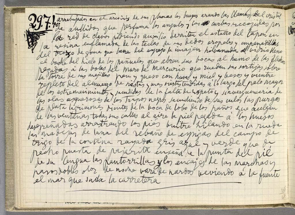 Pablo Picasso: Notebook 43, October 26, 1939- September 19, 1940. Photo © RMN-Grand Palais (Musée National Picasso-Paris)/Adrien Didierjean © Succession Picasso 2020