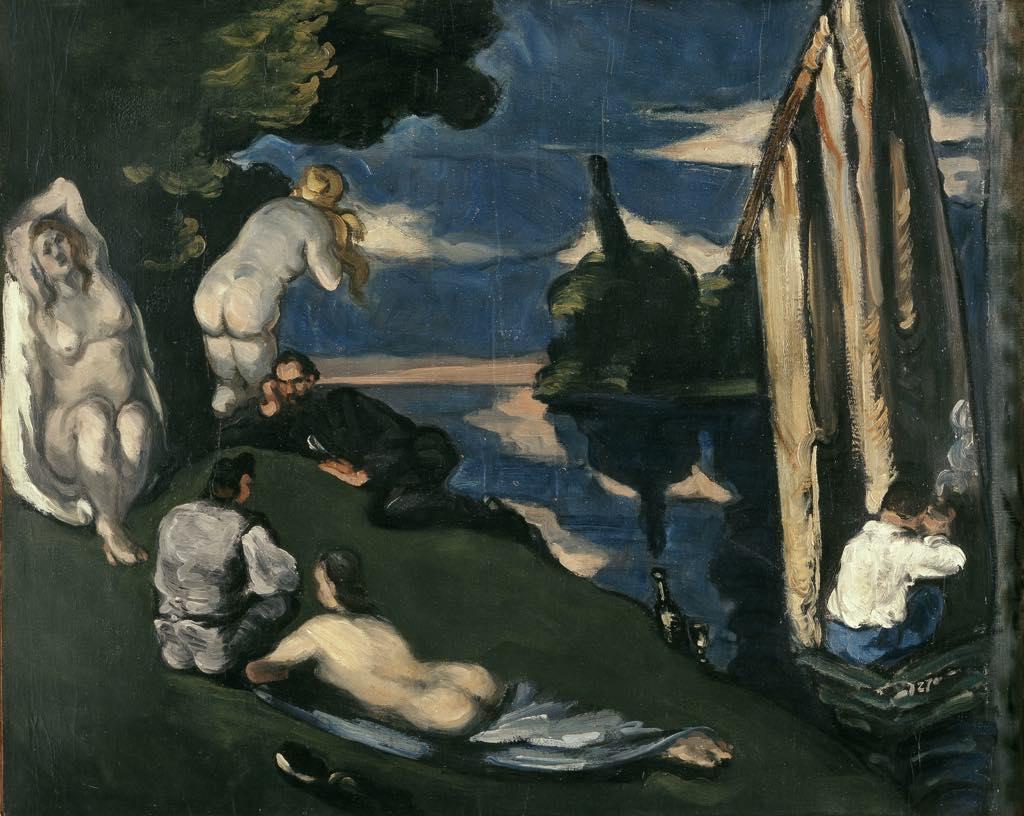 """""""Pastorale"""" (1870), by Paul Cezanne. © RMN-Grand Palais (Musée d'Orsay)/Hervé Lewandowski"""