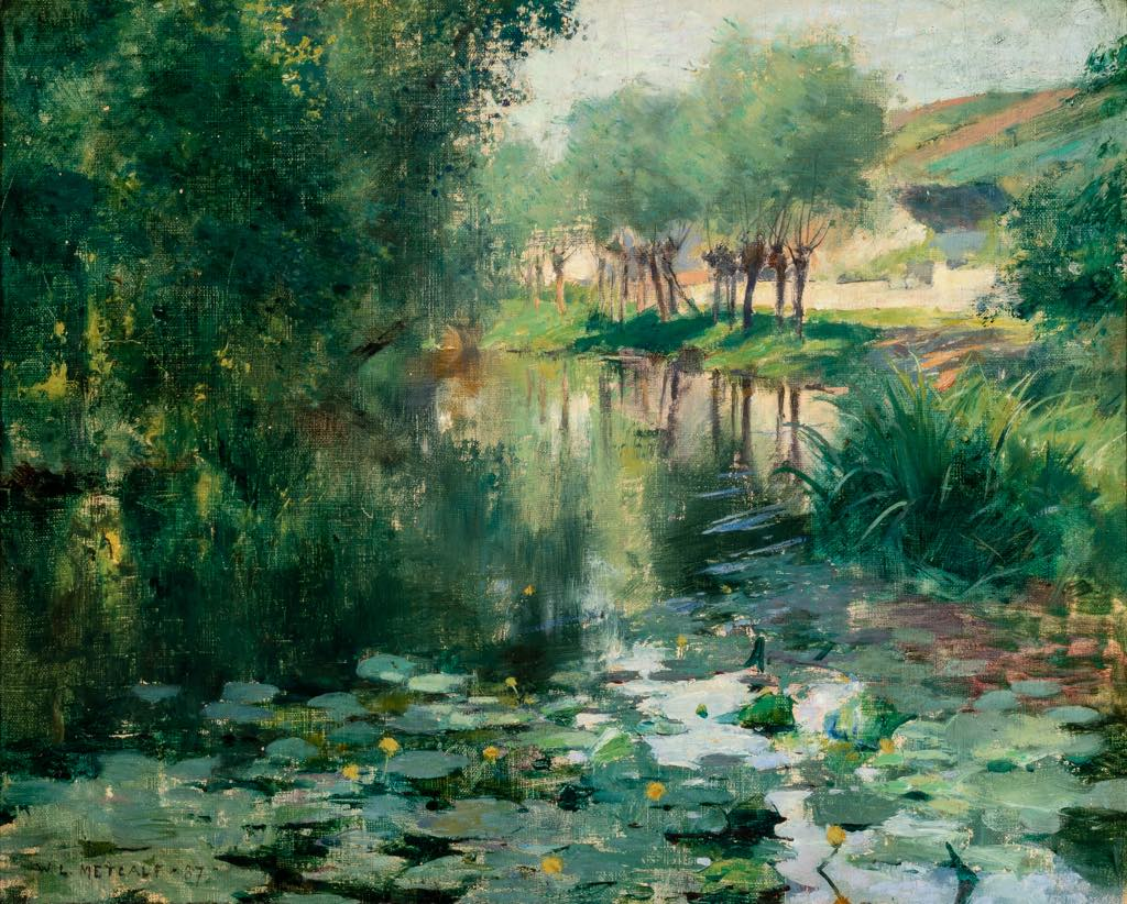 """""""The Lily Pond"""" (1887), by Willard Metcalf. © Terra Foundation for American Art, Chicago"""