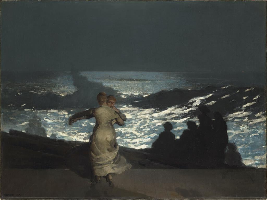 """""""Summer Night"""" (1890), by Winslow Homer. © RMN-Grand Palais (musée d'Orsay)/Hervé Lewandowski"""