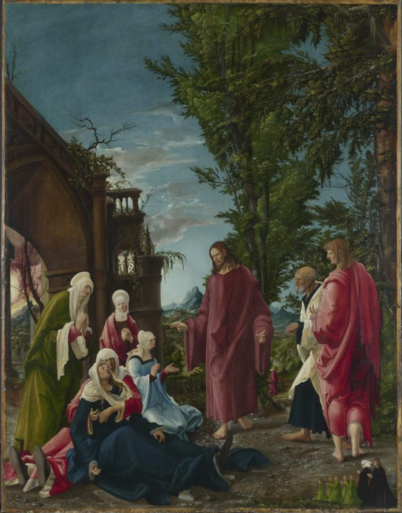 """Christ Taking Leaving of His Mother"" (c. 1518-20), by Albrecht Altdorfer © Londres, The National Gallery."