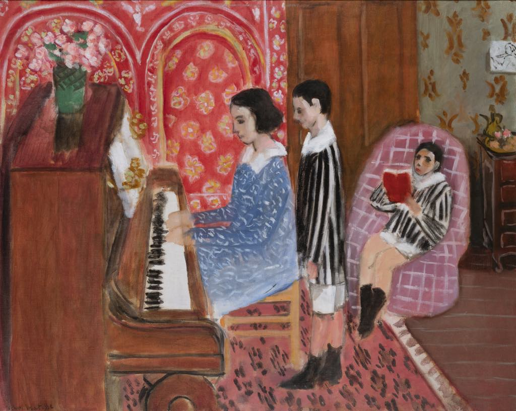 """""""The Piano Lesson"""" (1923), by Henri Matisse. © Rodolphe-Haller Genève © Succession H. Matisse"""