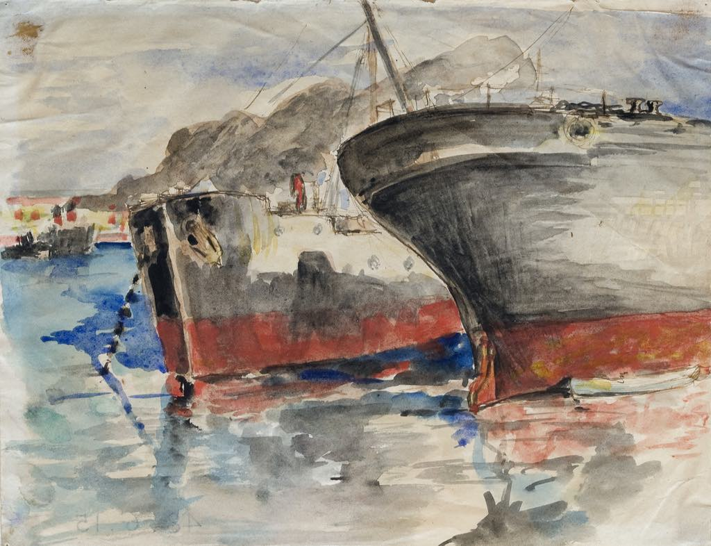 """""""Freighters in the Port of Sète,"""" by Paul Valéry."""