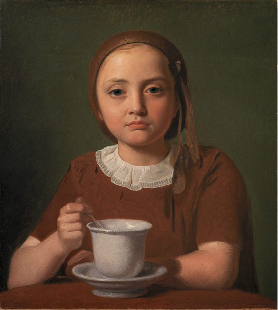 """A Girl, Elise Købke, with a Cup"" (1850), by Constantin Hansen. © SMK Photo/Jakob Skou-Hansen"