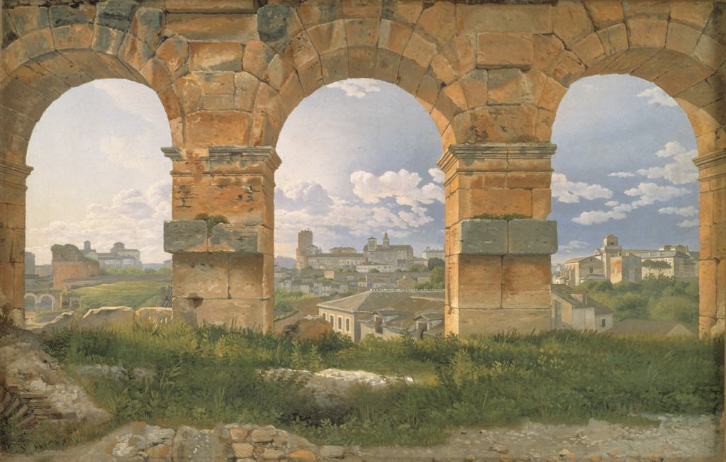 """View through Three Arches of the Third Story of the Colosseum"" (1815), by Christoffer Wilhelm Eckersberg. © SMK Photo/Jakob Skou-Hansen"