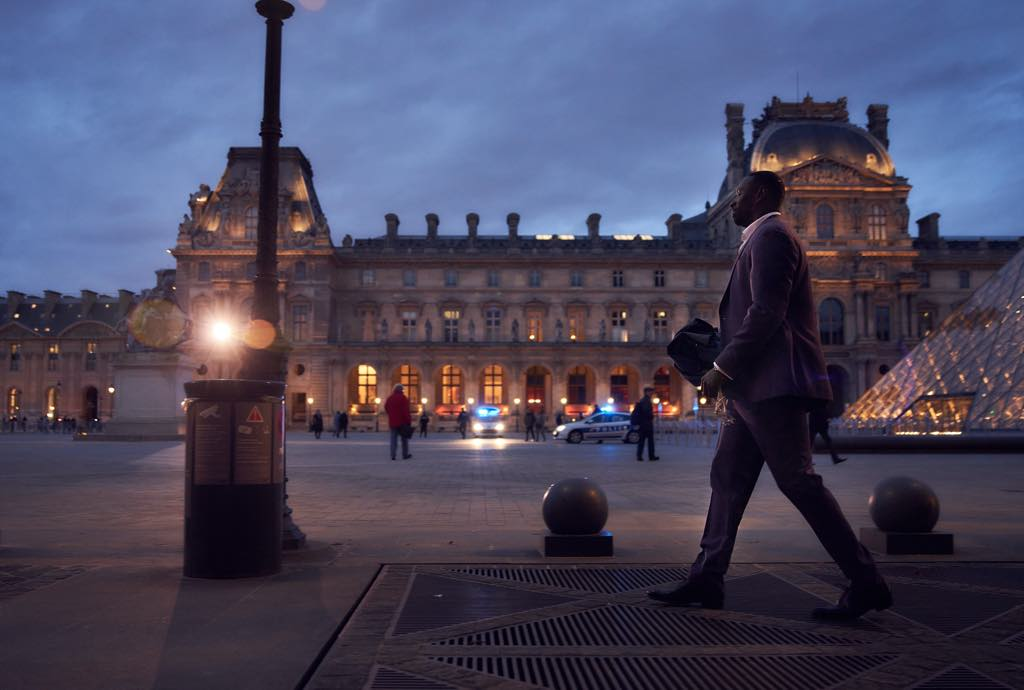 Assane Diop (Omar Sy) at the Louvre. Photo: Emmanuel Guimier