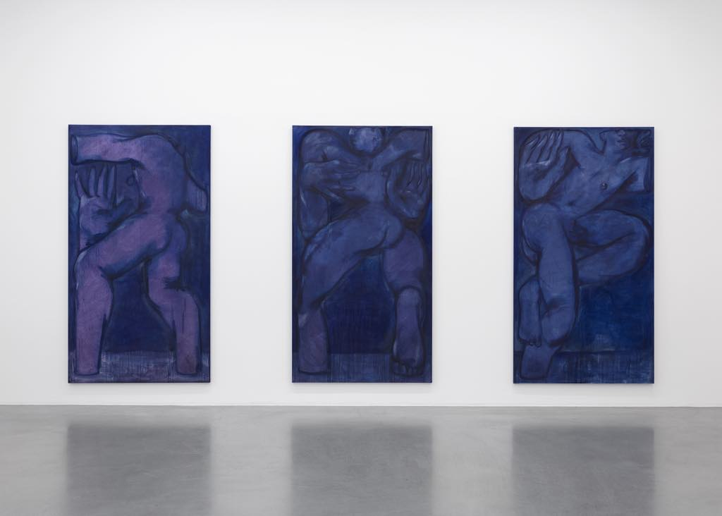 """Exhibition view of """"Les Yeux Clos"""" (""""Eyes Closed""""), with works by Alex Foxton. Photo © Claire Dorn"""