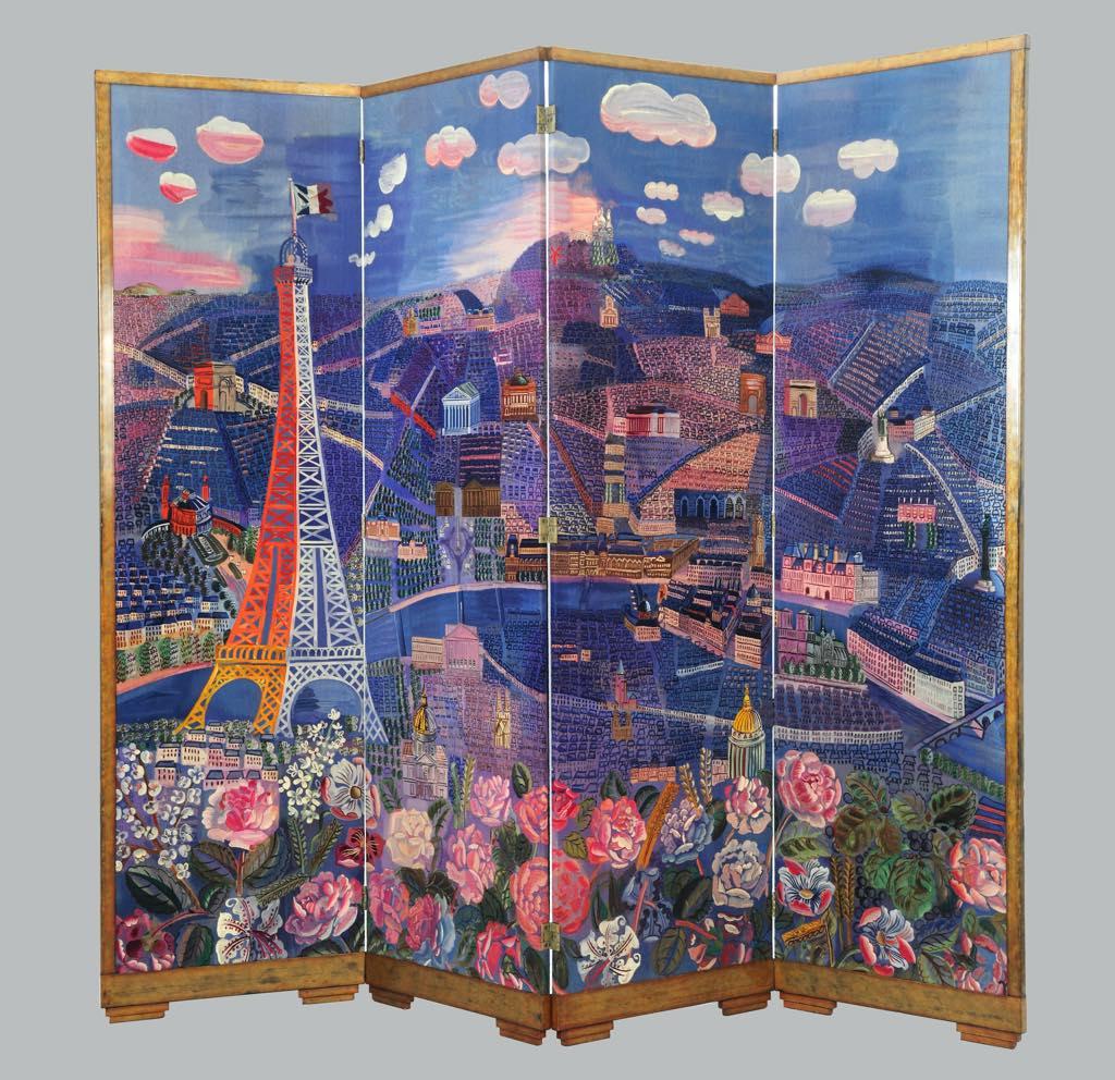 """""""Panorama de Paris"""" (1933), by Raoul Dufy and André Groult. © Adagp, Paris 2021"""