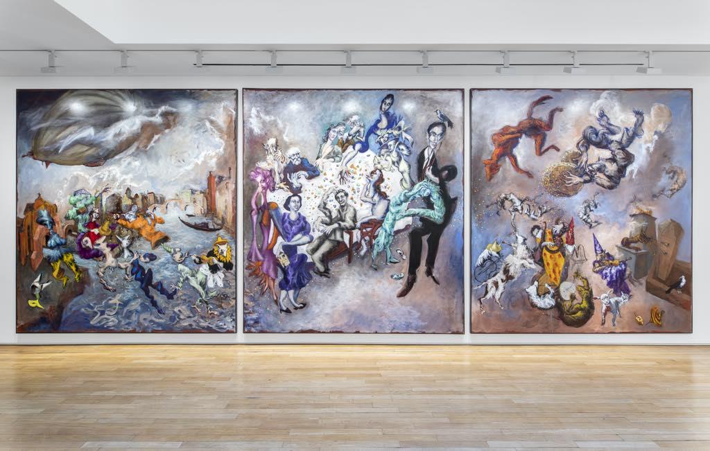 "The triptych ""The Banquet"" (2021). Photo: Nicolas Brasseur"