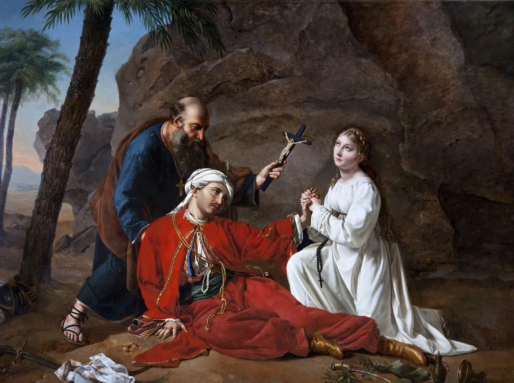 """""""La mort de Malek-Adhel"""" (1814), by Césarine Davin-Mirvault © Aurillac, Musée d'Art et d'Archéologie"""