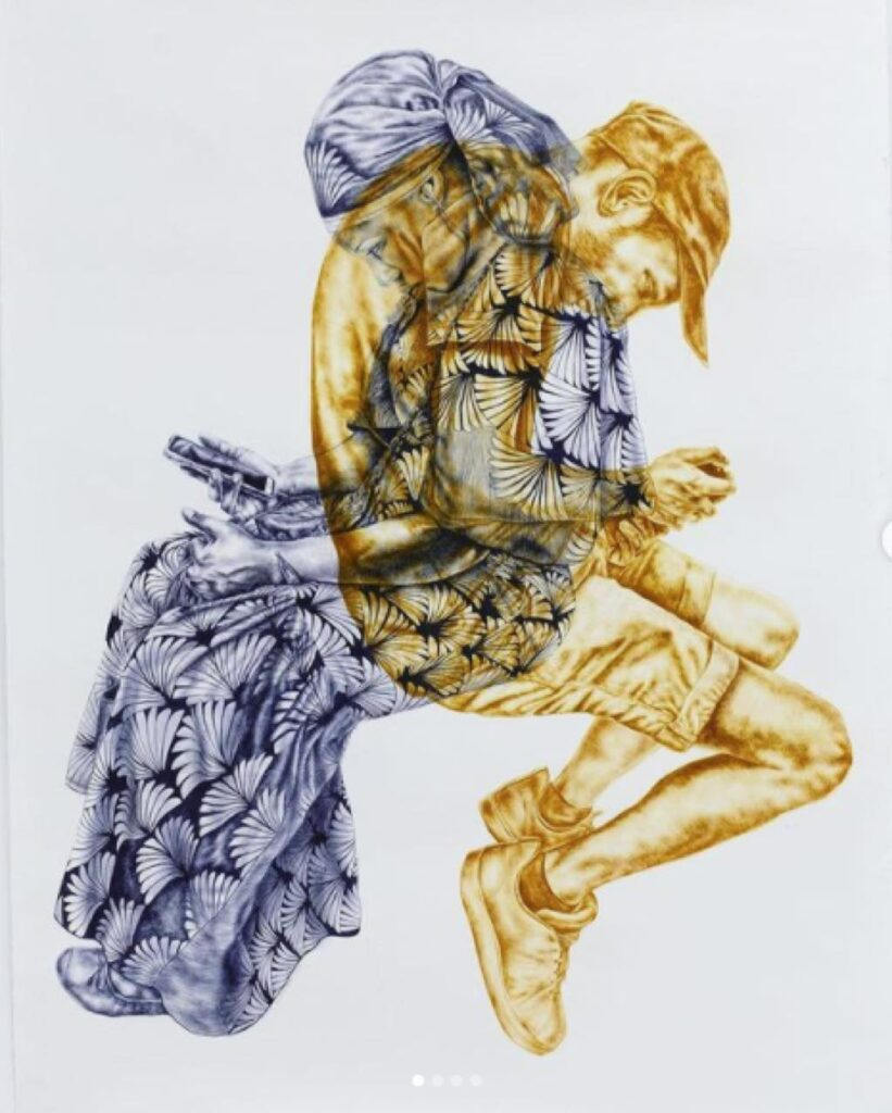 """""""Un Peu d'Interaction Sociale"""" (2020), by Gabrielle Kourdadzé."""