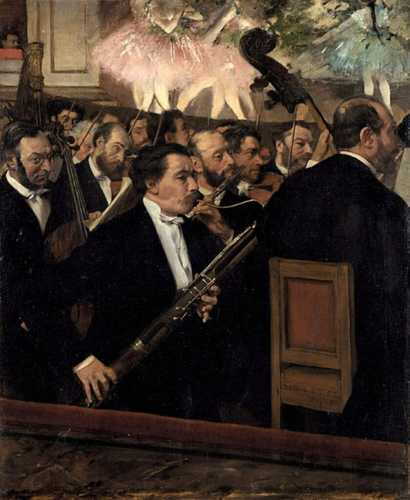 """L'Orchestre de L'Opera"" (1868), by Edgar Degas. Public domain."
