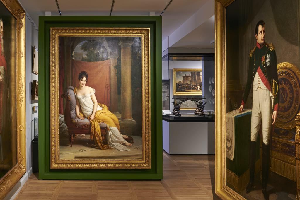 Portraits of Juliette Récamier and Napoleon. © Pierre Antoine