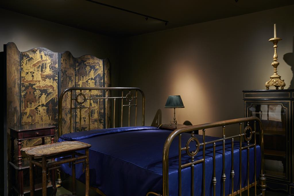 The bed where Marcel Proust wrote In Search of Lost Time and other furniture from his Paris apartments. © Pierre Antoine