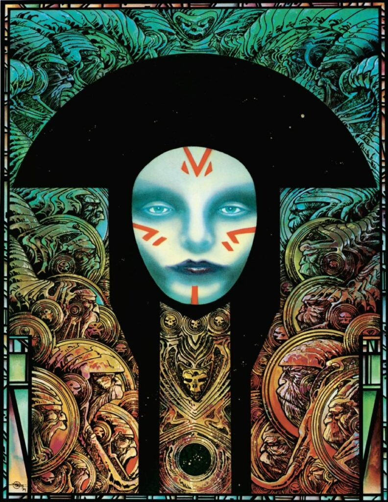 The poster for Salammbô, by Philippe Druillet, © Editions Glénat © ADAGP, 2021