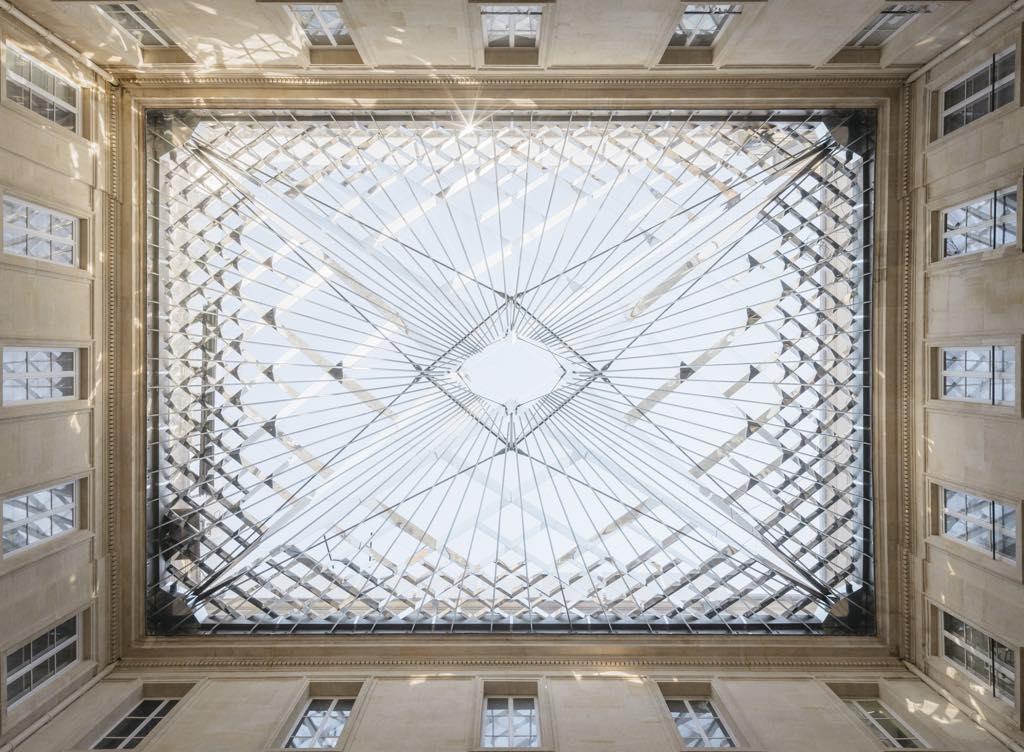 The glass roof in the Cour de l'Intendant. © Nicolas-Trouillard/Centre des Monuments Nationaux