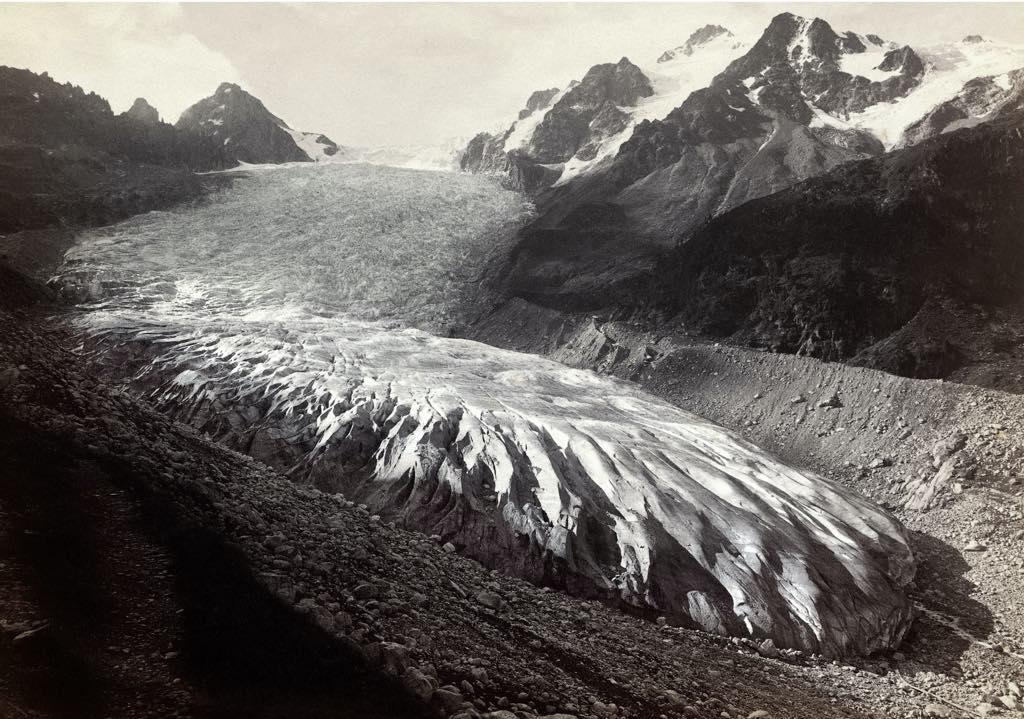 The disappearing Trient Glacier in 1891 (see photo below). Médiathèque Valais, Martigny, Oscar Nicollier, Coll. André Guex