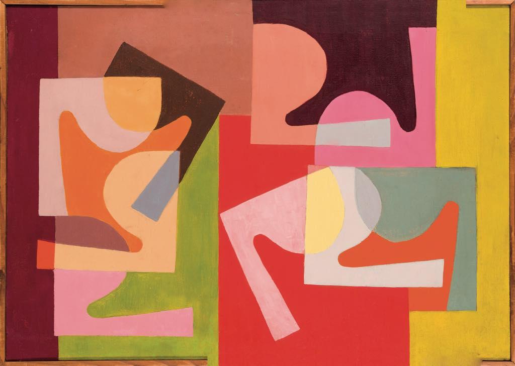 """""""Fractional Module"""" (detail, 1947-1951), by Saloua Raouda Choucair. Courtesy Galerie Saleh Barakat © Saloua Raouda Choucair Foundation. Photo © All rights reserved"""