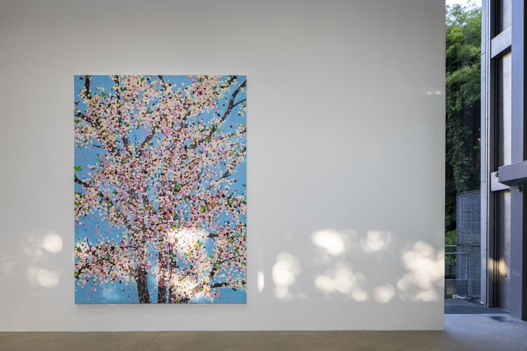 """Exhibition view: """"Cherry Blossoms,"""" by Damien Hirst. Fondation Cartier pour l'Art Contemporain, Paris. Photo: Thibaut Voisin"""