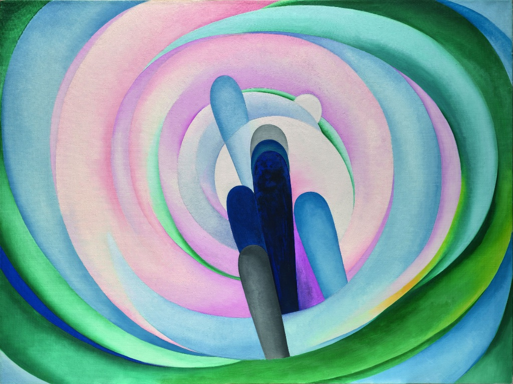 """""""Grey, Blue and Black – Pink Circle"""" (1929). Courtesy Dallas Museum of Art"""