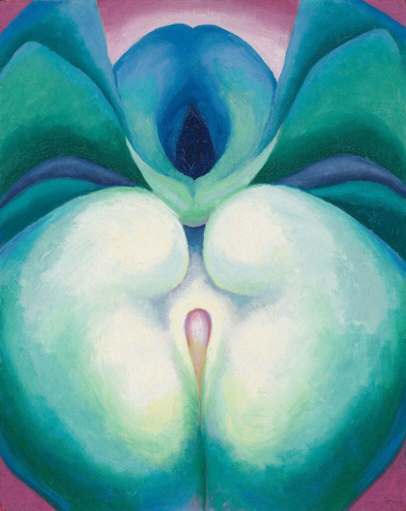 """Series I White & Blue Flower Shapes"" (1919). Photo © Tim Nighswander/Imaging4Art © Georgia O'Keeffe Museum/Adagp, Paris, 2021"