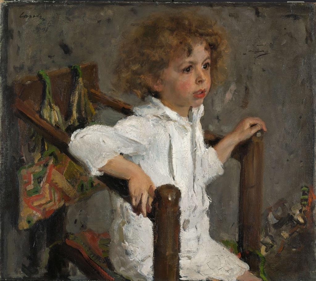 """Portrait of Mika Morozov"" (Moscow, 1901). State Tretyakov Gallery, Moscow"